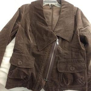 Velour brown blazer